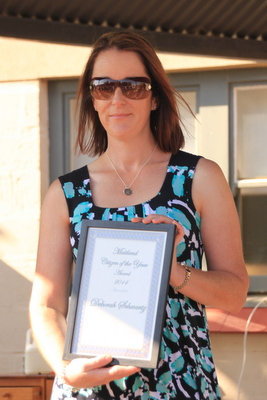Deb Schwartz with her Australia Day award.